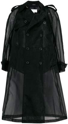 Maison Margiela sheer tailored coat