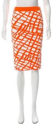 Ronny Kobo Patterned Knee-Length Skirt w/ Tags