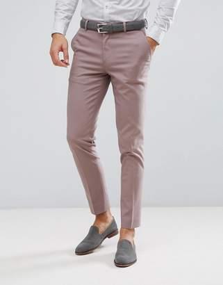 Asos Design DESIGN wedding skinny suit pants in mink