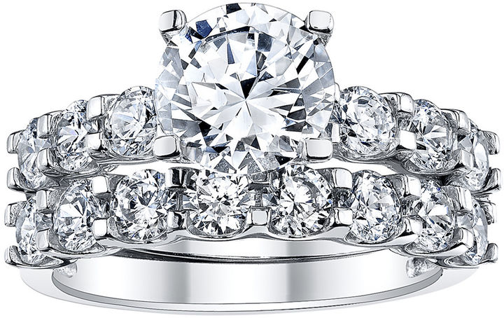 JCPenney FINE JEWELRY DiamonArt 4 CT. T.W. Cubic Zirconia Bridal Ring Set