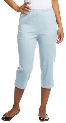 Denim & Co. Original Waist Stretch Capri Pants with Side Pockets