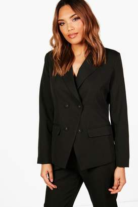 boohoo Double Breasted Woven Suit Blazer