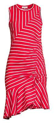 Parker Women's Lucia Striped Flounce Hem Dress