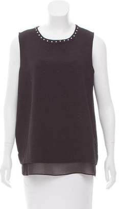 Karl Lagerfeld Studded Textured Top