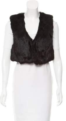 Sonia Rykiel Sonia by Cropped Rabbit Fur Vest