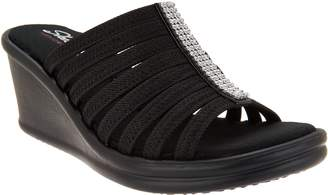 Skechers Rhinestone Slide Wedges - Hot Shot