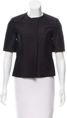 Calvin Klein Collection Short Sleeve Zip-Up Jacket
