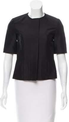 Calvin Klein Collection Short Sleeve Zip-Up Jacket
