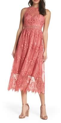 Foxiedox Sleeveless Lace Midi Dress