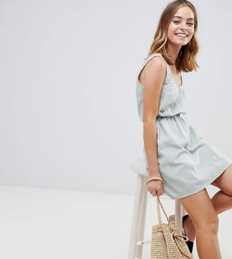 Asos DESIGN Petite casual mini dress in grid texture