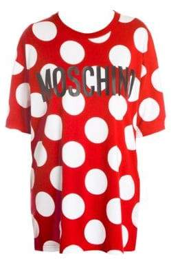 Moschino Oversized Polka-Dot Tee