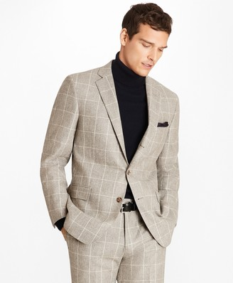 Brooks Brothers Regent Fit Windowpane Flannel 1818 Suit