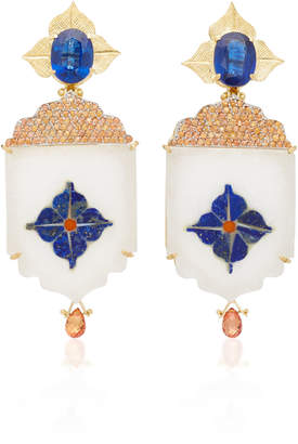 Silvia Furmanovich India Marble Mosaic Earrings