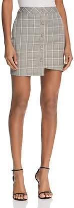 J.o.a. Asymmetric Plaid Skirt