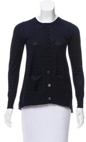 Sacai Luck Contrasted Wool Cardigan