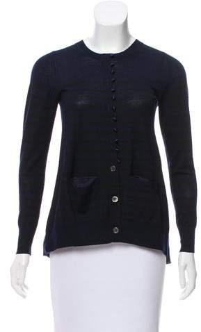 Sacai Luck Contrasted Wool Cardigan