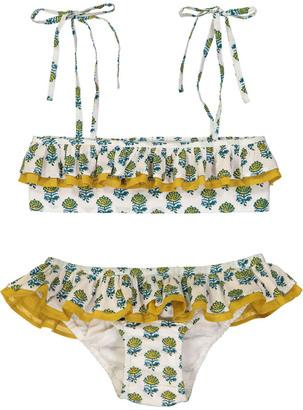 LISON PARIS Poppy Patterned 2 Piece Bandeau Swimsuit $79.20 thestylecure.com