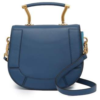 Anne Klein Top Handle Leather Saddle Bag