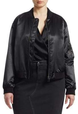 Marina Rinaldi Ashley Graham x Ashley Graham X Satin Bomber Jacket