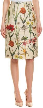 Oscar de la Renta Silk & Wool-Blend Pencil Skirt