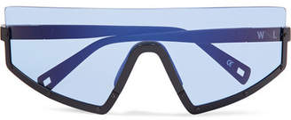 Westward Leaning Stun D-frame Matte-acetate Sunglasses - Blue