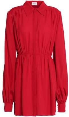 Magda Butrym Gathered Silk-Crepe Mini Dress