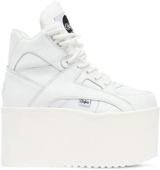 Buffalo London 100mm High Tower Plateau Leather Sneaker