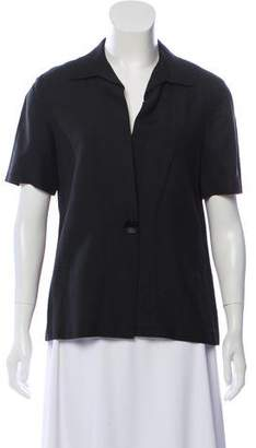 Halston Structured Short Sleeve Top