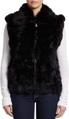 Surell Women's Rabbit Fur Vest