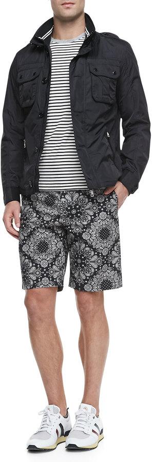 Moncler Mate Nylon Field Jacket, Black