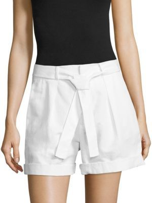 Polo Ralph Lauren Pleated High-Rise Shorts $145 thestylecure.com