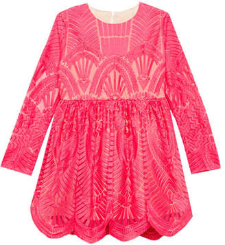 Bardot Junior Embroidered Long-Sleeve Dress, Size 8-16