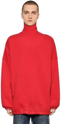 Balenciaga Oversize Cotton Turtleneck Sweater