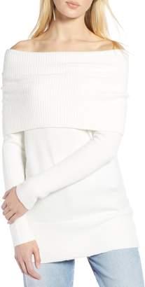 Halogen Convertible Neck Sweater