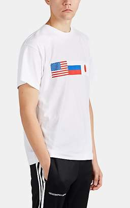 Gosha Rubchinskiy Men's Flag-Print Cotton T-Shirt - White