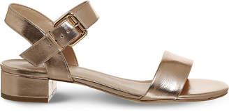 Office Morgan metallic block heel sandals