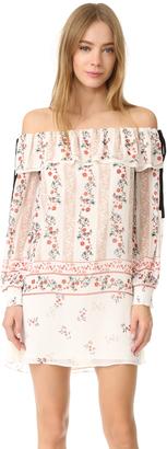 endless rose Printed Off Shoulder Dress $100 thestylecure.com