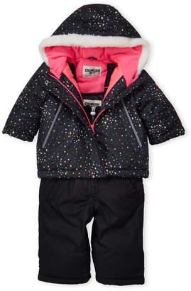 Osh Kosh B'gosh (Infant Girls) Two-Piece Hooded Stars Jacket & Snow Bib Set