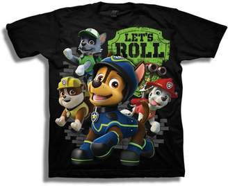 PAW Patrol Let's Roll Boys' Juvy Short Sleeve Graphic Tee T-Shirt
