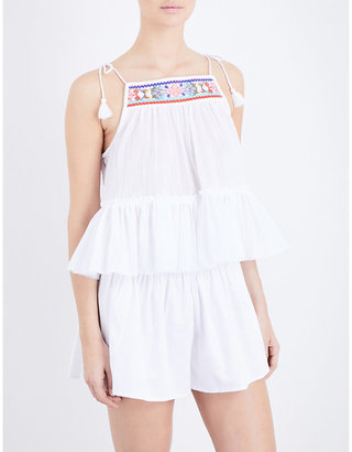 Seafolly Floral-embroidered cotton top $71 thestylecure.com