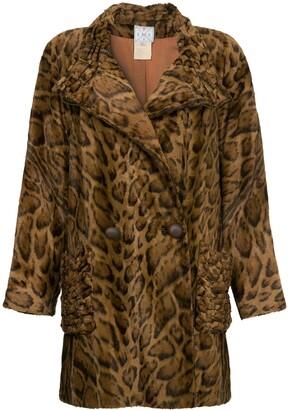 Fendi Pre-Owned faux leopard fur coat