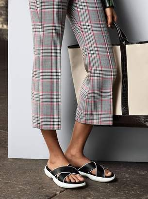 Michael Kors Plaid Wool Cropped Trousers