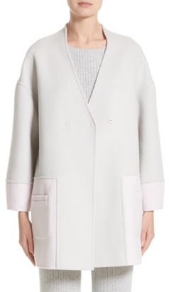 Women's St. John Collection Reversible Wool Blend Cocoon Coat $1,495 thestylecure.com