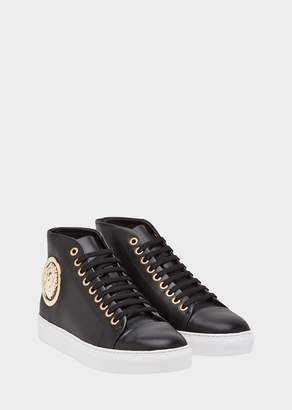 Versace Floating Lion High Top Sneakers