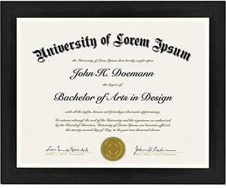 Americanflat Document Frame - Made to Display Certificates 8.5x11 Inches - Document Frame