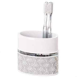 Creative Scents Mirror Damask Toothbrush Holder