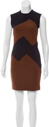 Martin Grant Wool Chevron Dress