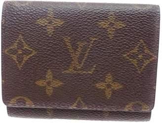 Louis Vuitton Brown Cloth Wallets