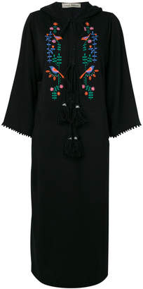 Veronique Branquinho peacock hooded kaftan dress