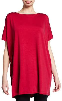 Eileen Fisher Short-Sleeve Tencel Jersey Tunic, Plus Size
